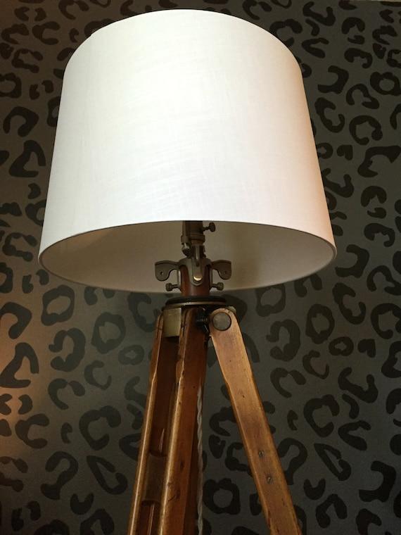 Wooden Tripod Lamp Vintage Tripod Stanley By Modernartifactdecor