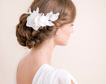 Lily Magnolia Flower Hair Piece - Bridal Hairpiece Flower Lace - Wedding Hair Piece - Bridal Hair Accessories