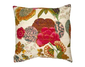 Cushion Cover - TROPICAL FLOWER WHITE