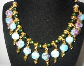Gorgeous Hand Painted Ceramic Necklace Set*********.