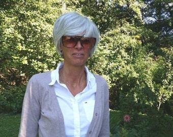 1980 French vintage sunglasses, imitation dark tortoise shell  glasses, lady glasses,