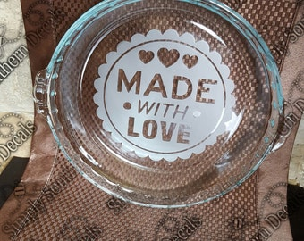 Etched Pie Dish