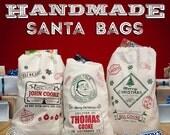 Personalized Original Santa Sack - Santa Claus Sack - Christmas tote - Holiday Sacks - Holiday Bags