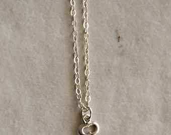 """sterling silver key charm necklace 14"""" 16"""" 18"""" 20"""" 24"""" 30"""" 33"""""""