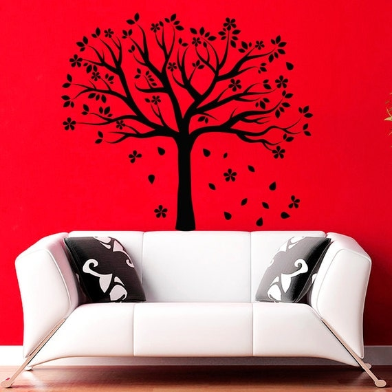 Etsy Family Wall Decor : Family tree wall decals flower decal nursery by decalhouse