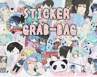 STICKER Grab Bag! Super cute Manga & Anime Art Stickers! Catboys Yaoi Chibis Kawaii~