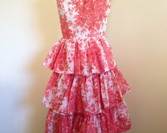 Red and White Print 1950s/1960s Sundress