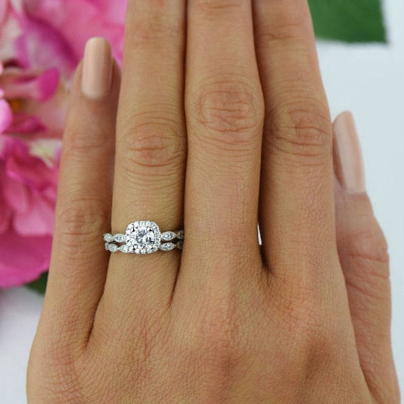 like this item - Halo Wedding Ring Sets