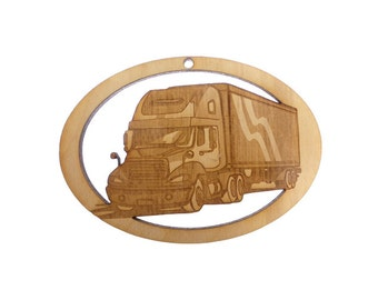 Big Rig Ornament - Trucker Ornament - Trucker Ornaments - Big Rig Ornaments - Trucker Gift - Trucker Gifts - Personalized Free