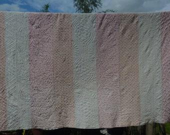 Antique Durham strippy quilt