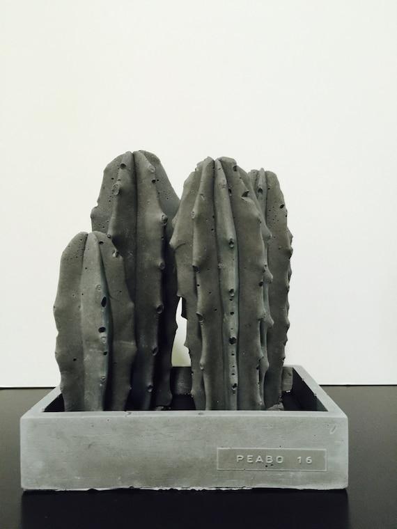 Peabo Garden Sculpture - Blue Candle Sticks/ Cement