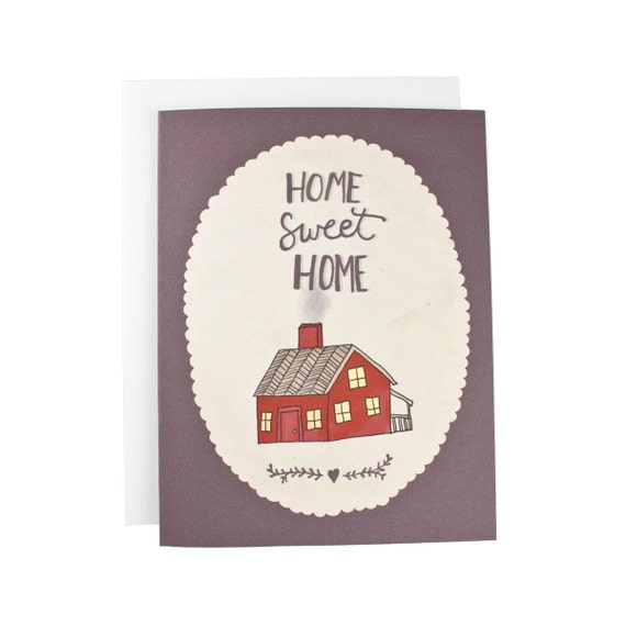 Home Sweet Home greeting card, new home, welcome