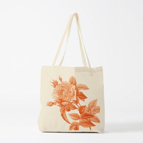 Tote bag The Rose Bush, canvas bag, groceries bag, reusable bag, student bag, gift women, gift for coworker, novelty gift.