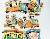 Vintage Disney Characters on Train Casey Jr. Wall Mount