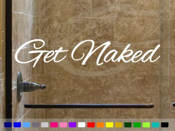 Get naked decal bathroom macbook window wall decor for Get naked bathroom decor
