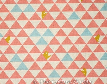 Kokka Bears Fabric ~ Kokka Fabric ~ Peach Bears Fabric ~ Japanese Fabric ~ Canvas Fabric ~ Linen Fabric ~Cotton Fabric ~Home Decor Fabric