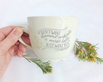 Anne of Green Gables Quote Mug | Wheel thrown | Ceramic | Pottery | I don't want | READY-TO-SHIP | Yellow