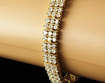 """CZ  Silver  Bracelet 8""""  Sterling"""
