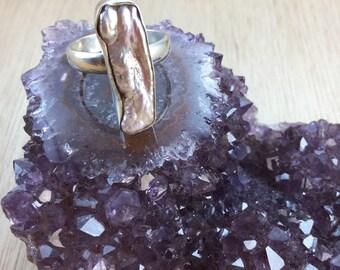 Pearl Ring Sterling Silver Freshwater Pearl - June Birthstone