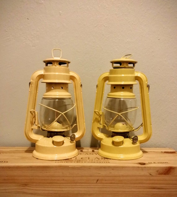 Yellow railroad lantern rustic spring decor diy by