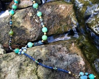Peruvian Opal Lariat Necklace