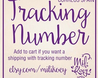 TRACKING NUMBER for your shipping.