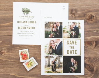 Photo Save the Date, Botanical Save the Date, Save the Date Postcard, Modern Save the Date, Fern Save the Date