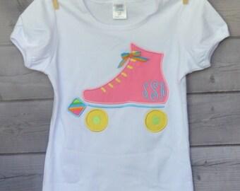 Roller Skate Birthday Applique Shirt or Onesie Boy or Girl