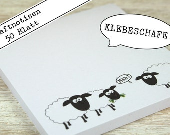Sticky sheep! - Sticky notes / Note pad / 50 Sheets