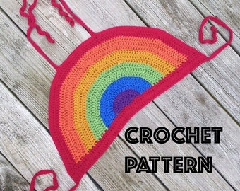 CROCHET PATTERN - Rainbow Halter Top