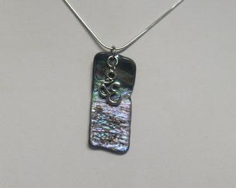 Paua shell pendant with Om charm