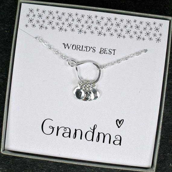 Grandma Necklace Personalized Grandma Gifts Grandma Birthday