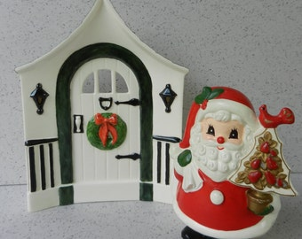 Ceramic Holland Mold Christmas Door, Doorway, Christmas Decor, Decoration, Background, Setting, Staging