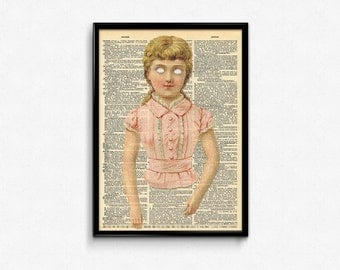 Creepy Wall Art American Horror Story Dictionary Art Print Creepy Cute Vintage Decor