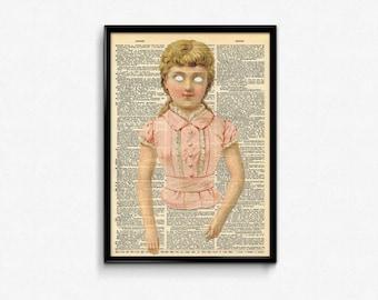 Creepy Wall Art SALE American Horror Story Dictionary Art Print Creepy Cute Vintage Decor