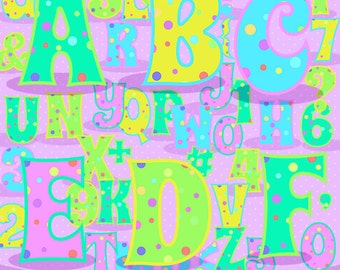 Party alphabet clipart, alphabet clip art, Scrapbook supplies PNG, Party printables, comercial use