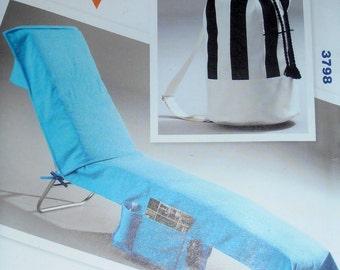 Beach Chair Cover pattern, Beach Bag, Kwik Sew 3798 Craft pattern, One Size, Decorating Pattern, DIY Home, Epsteam