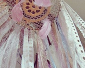 Bohemian Crib Canopy - Laces Canopy - Boho Nursery Decor -  Gypsy Crib Canopy Crown -  Dreamcatcher Mobile -Made to Order