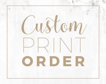 Custom Giclee Print Order - For Commissioned Digital Artworks
