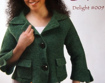 Delight #009 GoKnit GoFelt By Jennifer Lippman Bruno And Knowknits Felted Knitting Pattern Page 2005 - 2008