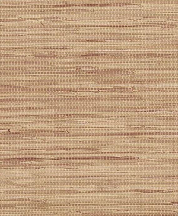 brown ha simulato grasscloth carta da parati visual texture - Sala Da Pranzo Contemporanea Con Strutturata Beige Grasscloth Carta Da Parati