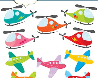 aeroplane helicopters clip art 10 cute planes and helicopters clipart ...