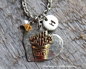 French Fries Necklace, Fries, Fast Food Necklace
