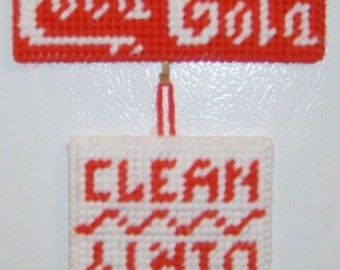 COCA-COLA  Clean/Dirty Dishwasher Magnet/Sign - Are the Dishes Clean or Dirty?