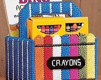 childs crayon tote 2 storage coloring book and crayons childs gift - Coloring Book Yarns