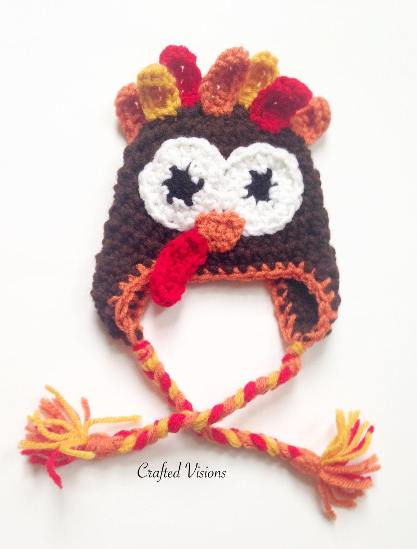 Pattern crochet turkey hat pattern turkey hat all sizes pattern crochet turkey hat pattern turkey hat all sizes newborn to adult thanksgiving crochet hat pattern bankloansurffo Gallery