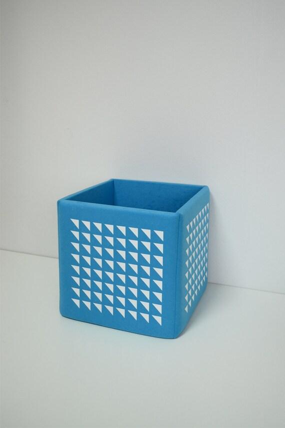 Modern Toy Box Living Room: Modern Blue Toy Storage Cube Basket Organization By ManeleDeco