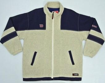 Wilson Jacket Men Large Wilson Fleece Jacket Wilson Polartec Jacket Men Wilson Jacket Nylon Lining
