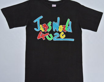 Jams World Shirt Men Small Vintage 90s Jams World T Shirt Vintage Jams World T Jams World 4U2C Spell Out Black T Jams World Size S