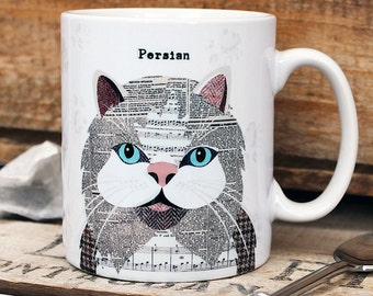 Persian cat personalised mug